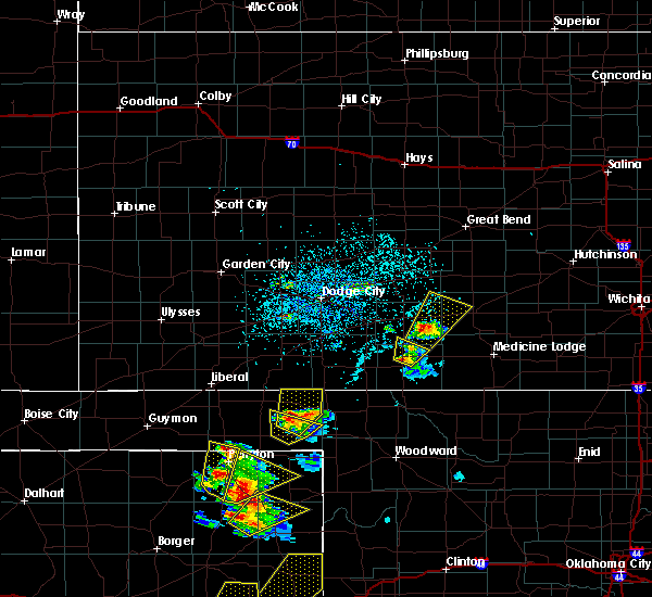Radar Image for Severe Thunderstorms near Coldwater, KS at 5/13/2018 5:40 PM CDT
