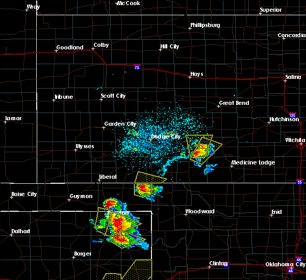 Radar Image for Severe Thunderstorms near Greensburg, KS at 5/13/2018 5:53 PM CDT