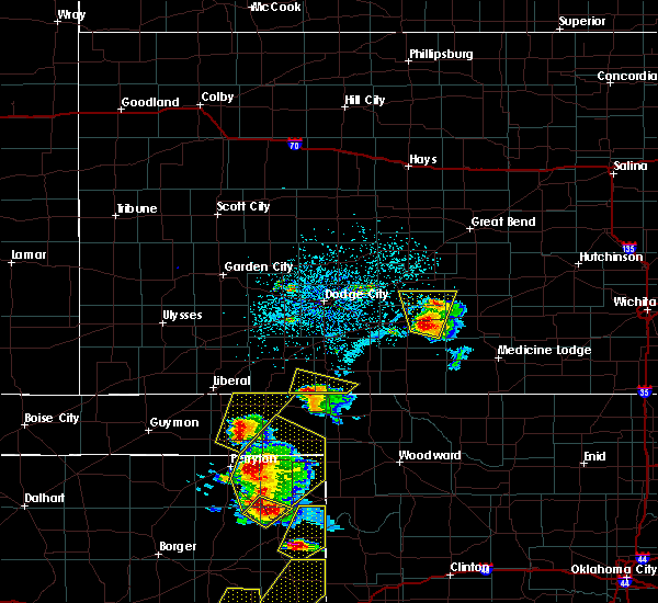 Radar Image for Severe Thunderstorms near Greensburg, KS at 5/13/2018 6:10 PM CDT