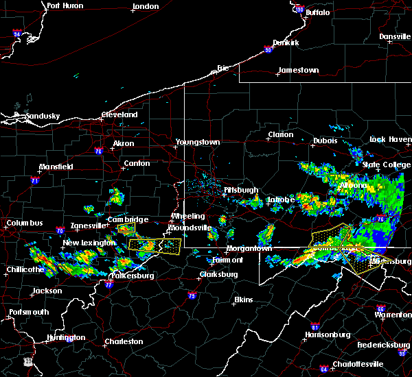 Radar Image for Severe Thunderstorms near Salesville, OH at 5/13/2018 7:11 PM EDT
