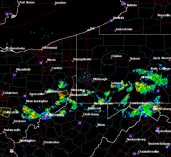 Radar Image for Severe Thunderstorms near St. Clairsville, OH at 5/13/2018 7:45 PM EDT