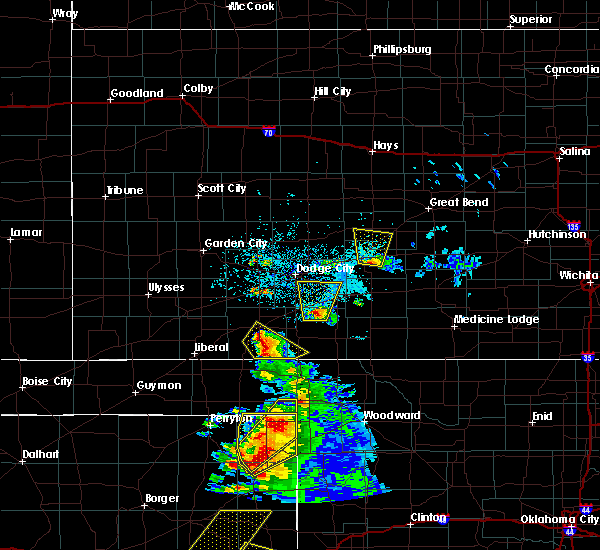 Radar Image for Severe Thunderstorms near Ford, KS at 5/13/2018 7:13 PM CDT