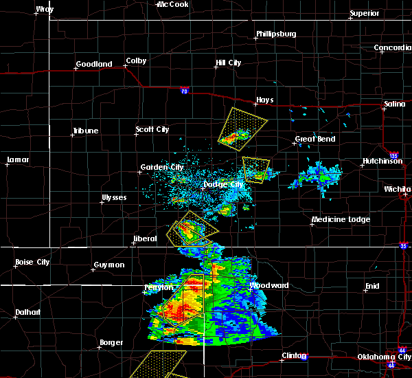 Radar Image for Severe Thunderstorms near La Crosse, KS at 5/13/2018 7:25 PM CDT