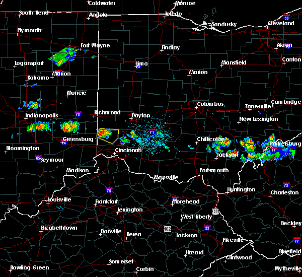 Radar Image for Severe Thunderstorms near Oxford, OH at 5/13/2018 8:37 PM EDT