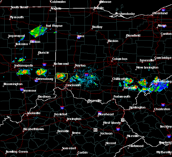 Radar Image for Severe Thunderstorms near Oxford, OH at 5/13/2018 8:40 PM EDT
