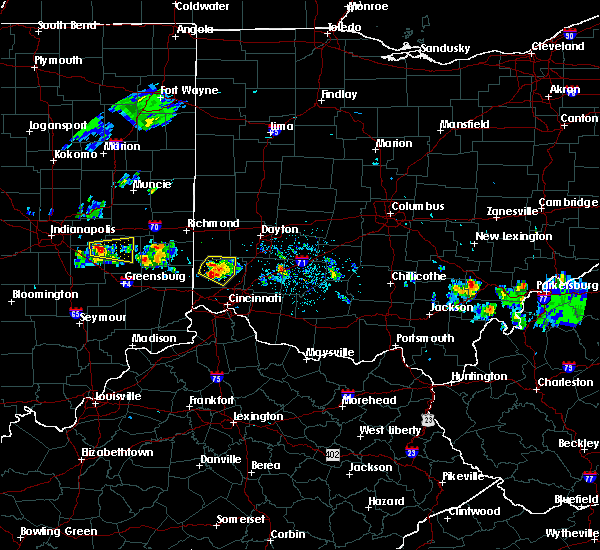 Radar Image for Severe Thunderstorms near Seven Mile, OH at 5/13/2018 8:59 PM EDT