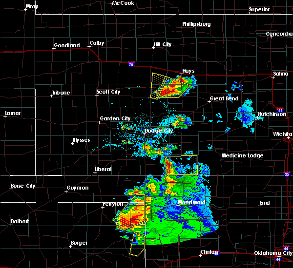 Radar Image for Severe Thunderstorms near Protection, KS at 5/13/2018 8:08 PM CDT