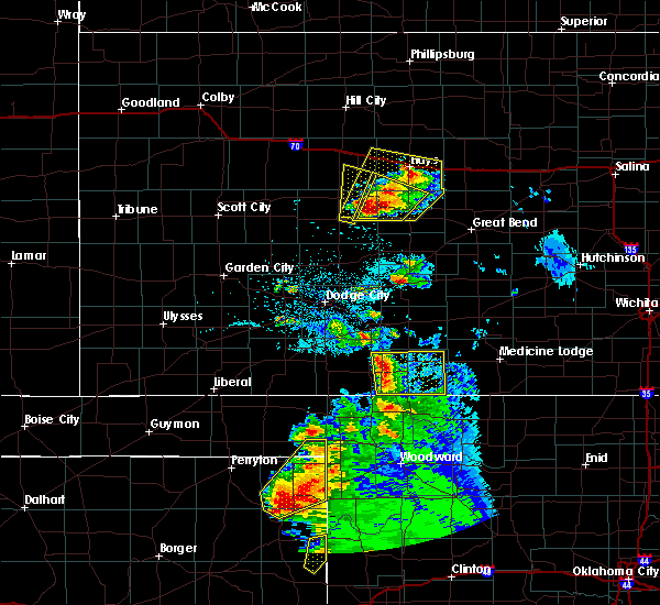 Radar Image for Severe Thunderstorms near La Crosse, KS at 5/13/2018 8:14 PM CDT