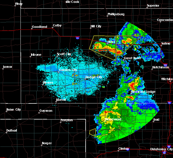 Radar Image for Severe Thunderstorms near Waldo, KS at 5/13/2018 10:02 PM CDT