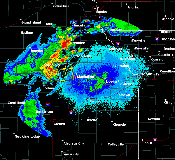 Radar Image for Severe Thunderstorms near Manchester, KS at 5/14/2018 12:28 AM CDT