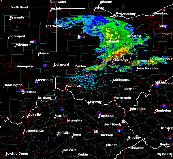 Radar Image for Severe Thunderstorms near St. Louisville, OH at 5/14/2018 12:53 PM EDT