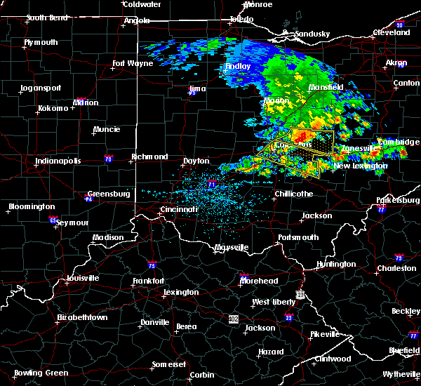 Radar Image for Severe Thunderstorms near Westerville, OH at 5/14/2018 1:09 PM EDT