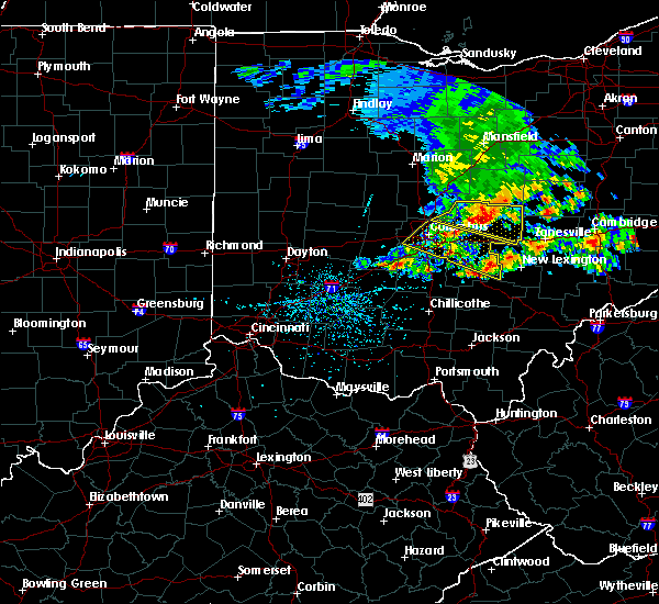 Radar Image for Severe Thunderstorms near St. Louisville, OH at 5/14/2018 1:14 PM EDT