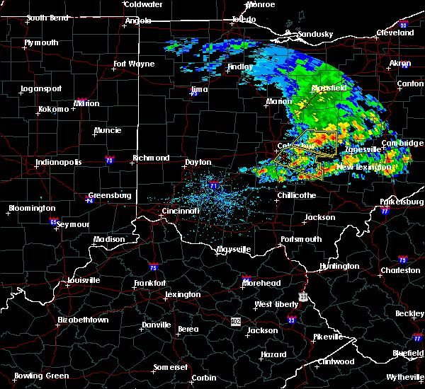 Radar Image for Severe Thunderstorms near New Lexington, OH at 5/14/2018 1:23 PM EDT