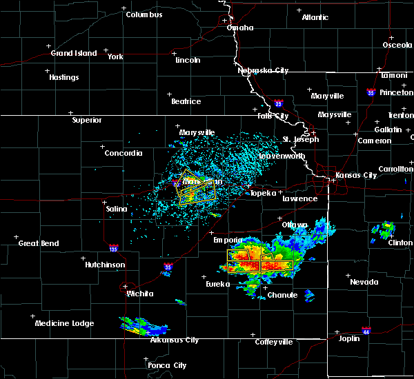 Radar Image for Severe Thunderstorms near Colony, KS at 5/14/2018 3:57 PM CDT