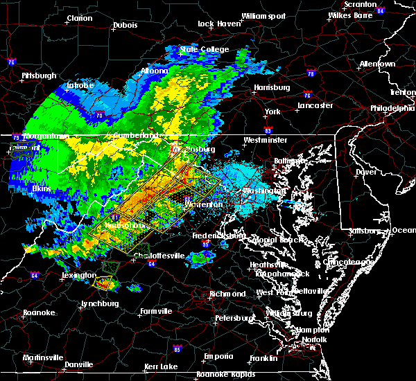 Radar Image for Severe Thunderstorms near Edinburg, VA at 5/14/2018 5:45 PM EDT