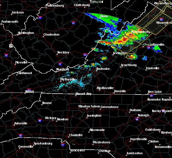 Radar Image for Severe Thunderstorms near Wintergreen, VA at 5/14/2018 5:48 PM EDT