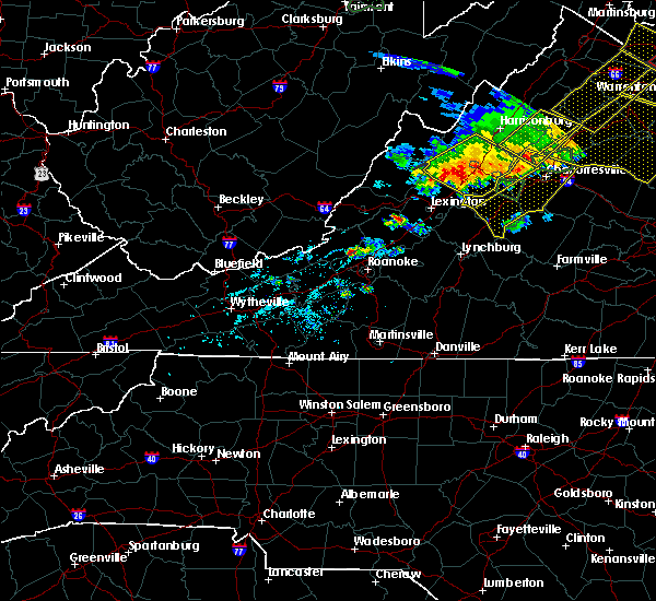 Radar Image for Severe Thunderstorms near Scottsville, VA at 5/14/2018 6:17 PM EDT