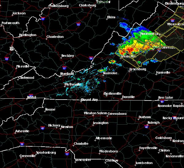 Radar Image for Severe Thunderstorms near Goshen, VA at 5/14/2018 6:27 PM EDT