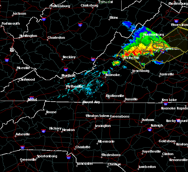 Radar Image for Severe Thunderstorms near Scottsville, VA at 5/14/2018 6:37 PM EDT