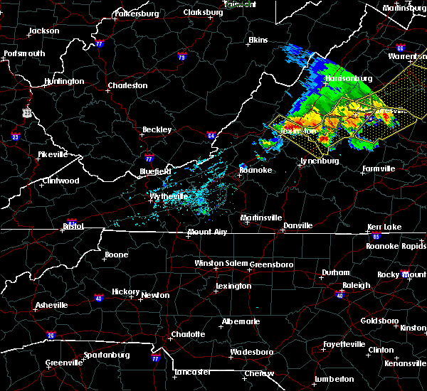 Radar Image for Severe Thunderstorms near Scottsville, VA at 5/14/2018 6:53 PM EDT