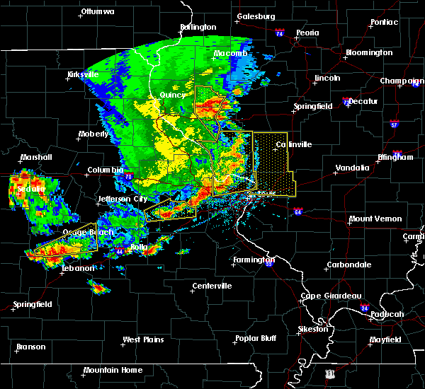 Radar Image for Severe Thunderstorms near Collinsville, IL at 5/14/2018 6:06 PM CDT