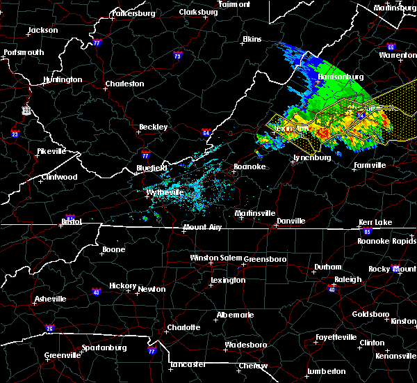 Radar Image for Severe Thunderstorms near East Lexington, VA at 5/14/2018 7:07 PM EDT