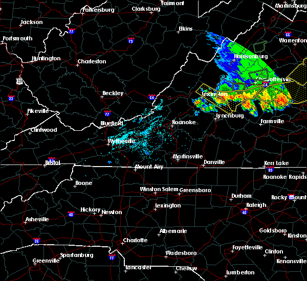 Radar Image for Severe Thunderstorms near Scottsville, VA at 5/14/2018 7:26 PM EDT