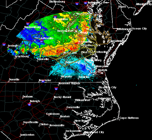 Radar Image for Severe Thunderstorms near Sandston, VA at 5/14/2018 7:54 PM EDT