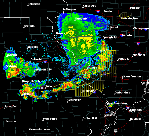 Radar Image for Severe Thunderstorms near Lebanon, IL at 5/14/2018 7:09 PM CDT