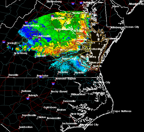 Radar Image for Severe Thunderstorms near Warsaw, VA at 5/14/2018 8:10 PM EDT