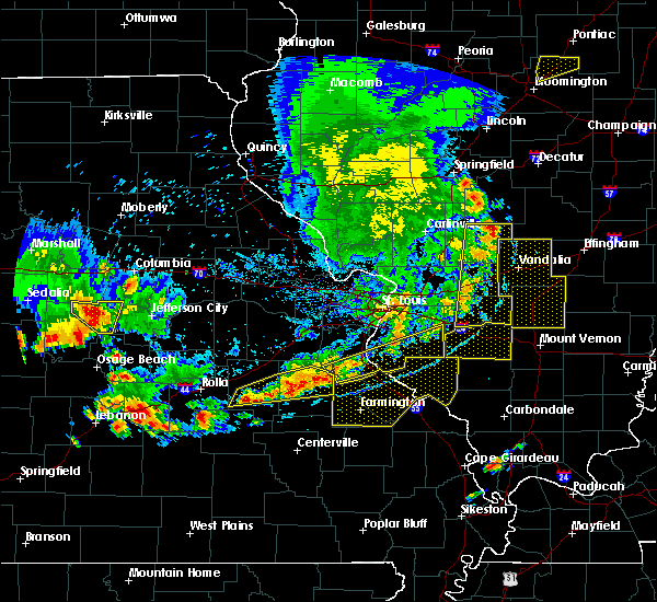 Radar Image for Severe Thunderstorms near Waterloo, IL at 5/14/2018 7:21 PM CDT