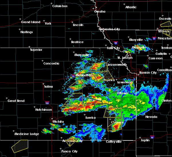 Radar Image for Severe Thunderstorms near Council Grove, KS at 5/14/2018 8:13 PM CDT