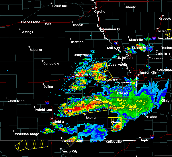 Radar Image for Severe Thunderstorms near Cassoday, KS at 5/14/2018 8:19 PM CDT