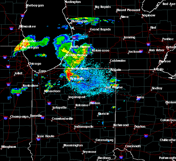 Radar Image for Severe Thunderstorms near Dunlap, IN at 5/14/2018 9:25 PM EDT
