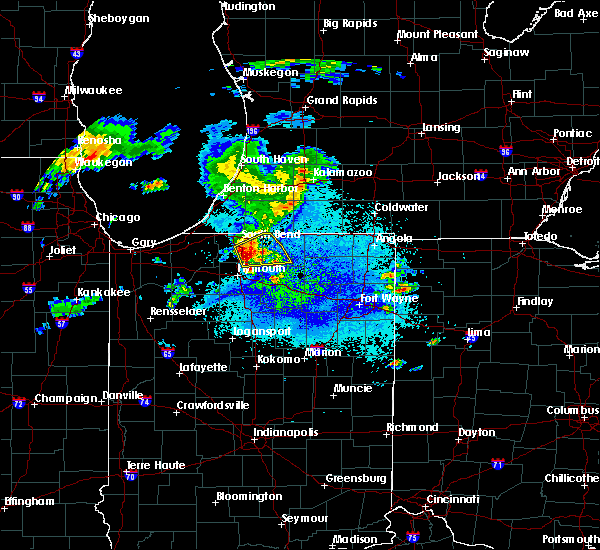 Radar Image for Severe Thunderstorms near Lakeville, IN at 5/14/2018 9:38 PM EDT
