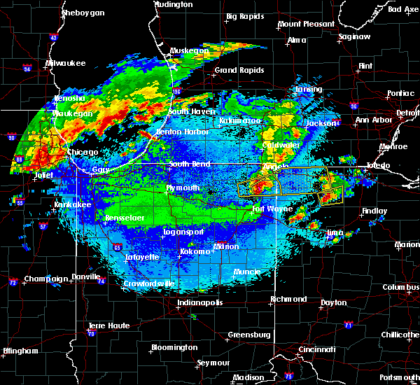 Radar Image for Severe Thunderstorms near Napoleon, OH at 5/14/2018 11:06 PM EDT