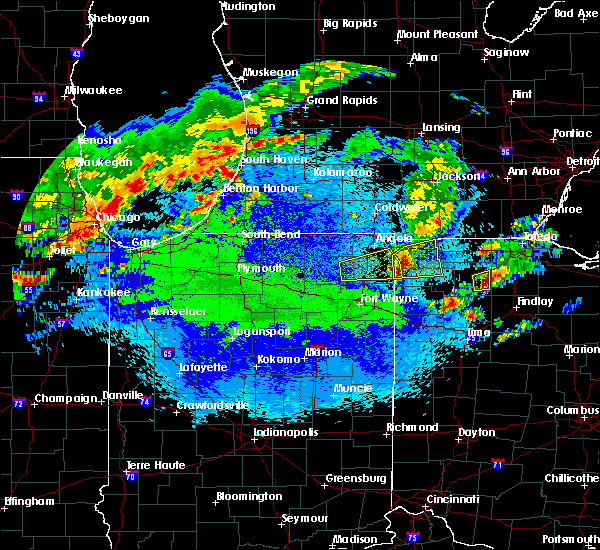 Radar Image for Severe Thunderstorms near Ney, OH at 5/14/2018 11:30 PM EDT