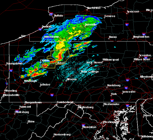 Radar Image for Severe Thunderstorms near New Bethlehem, PA at 5/15/2018 12:43 PM EDT