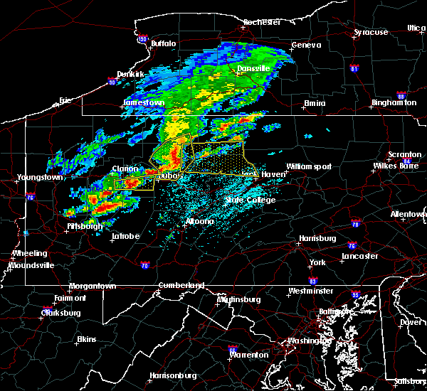 Radar Image for Severe Thunderstorms near Kittanning, PA at 5/15/2018 12:48 PM EDT