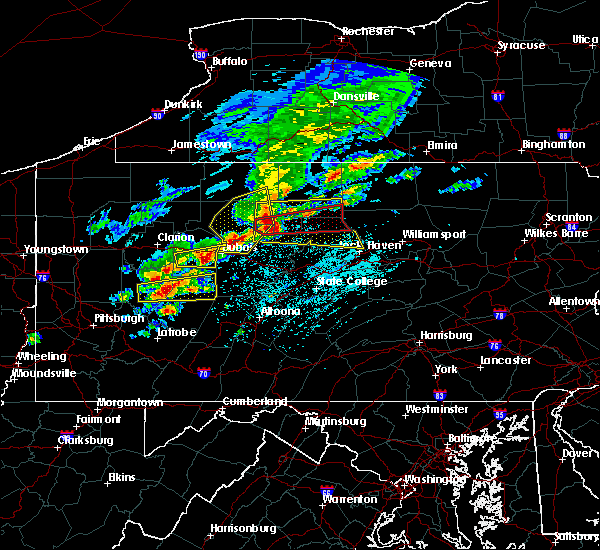 Radar Image for Severe Thunderstorms near Sandy, PA at 5/15/2018 1:01 PM EDT
