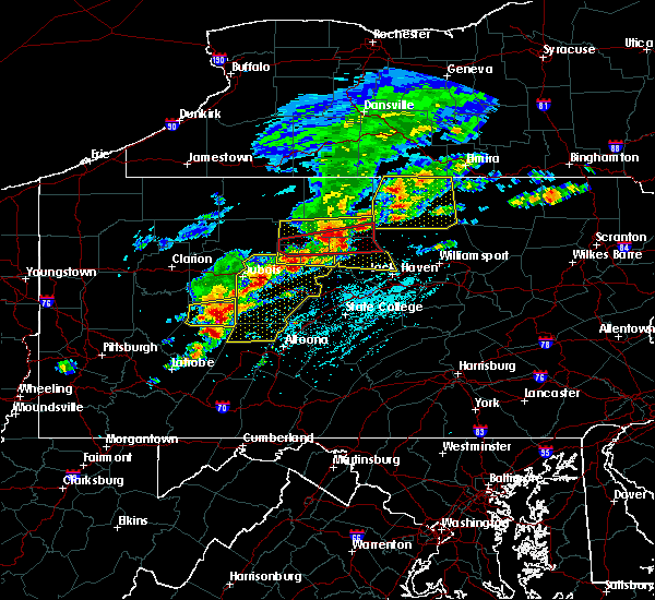 Radar Image for Severe Thunderstorms near Roseville, PA at 5/15/2018 1:19 PM EDT