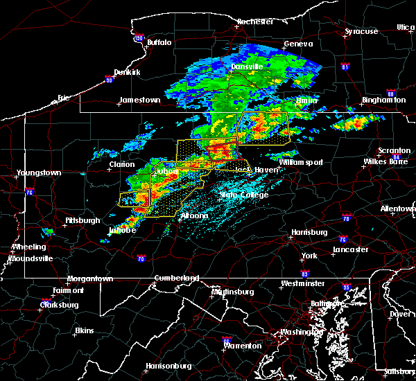 Radar Image for Severe Thunderstorms near Clymer, PA at 5/15/2018 1:23 PM EDT