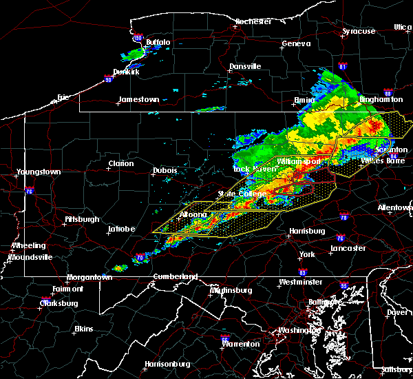Radar Image for Severe Thunderstorms near New Columbus, PA at 5/15/2018 2:52 PM EDT
