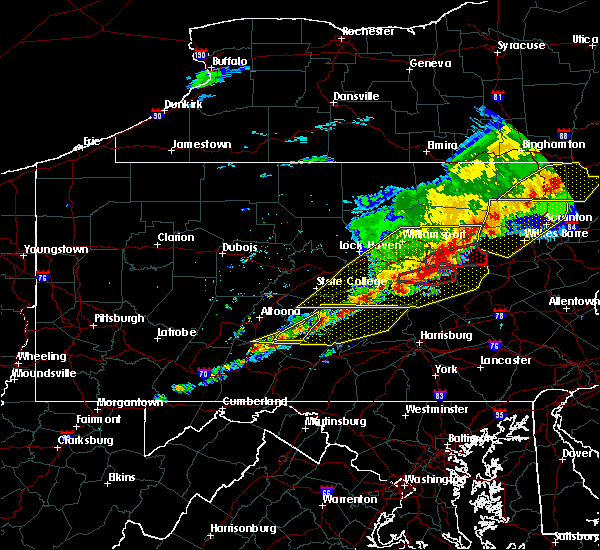 Radar Image for Severe Thunderstorms near Cassville, PA at 5/15/2018 2:58 PM EDT