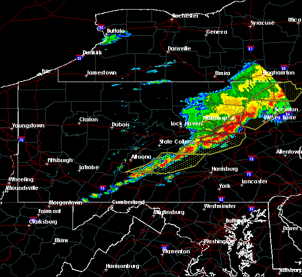Radar Image for Severe Thunderstorms near New Columbus, PA at 5/15/2018 3:02 PM EDT
