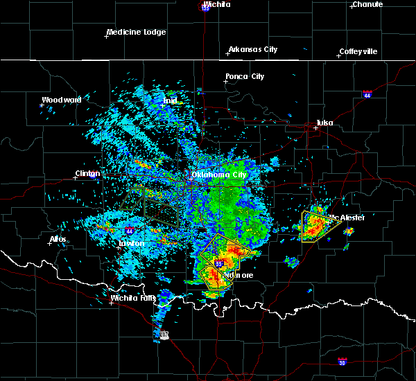 Radar Image for Severe Thunderstorms near Pittsburg, OK at 5/15/2018 2:55 PM CDT