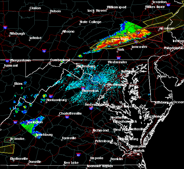 Radar Image for Severe Thunderstorms near Dover, PA at 5/15/2018 4:36 PM EDT
