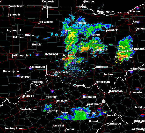Radar Image for Severe Thunderstorms near Dayton, OH at 5/15/2018 5:40 PM EDT