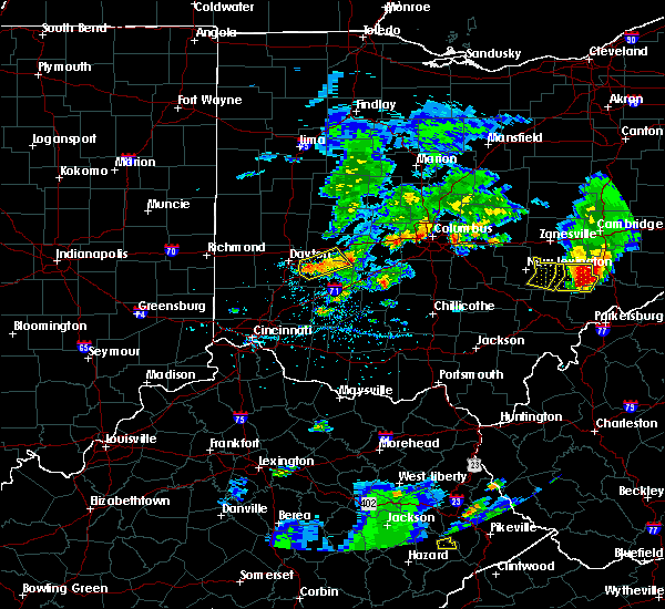 Radar Image for Severe Thunderstorms near Dayton, OH at 5/15/2018 6:02 PM EDT